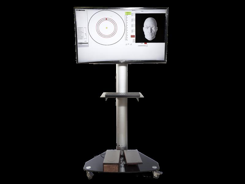 Fisiocomputer MOVESCAN - Propriocezione 3D e Test Rom - Schermata con Testa - Tastiera - Pedana - Sensori - Made to Last - Elettromedicali per Fisioterapia